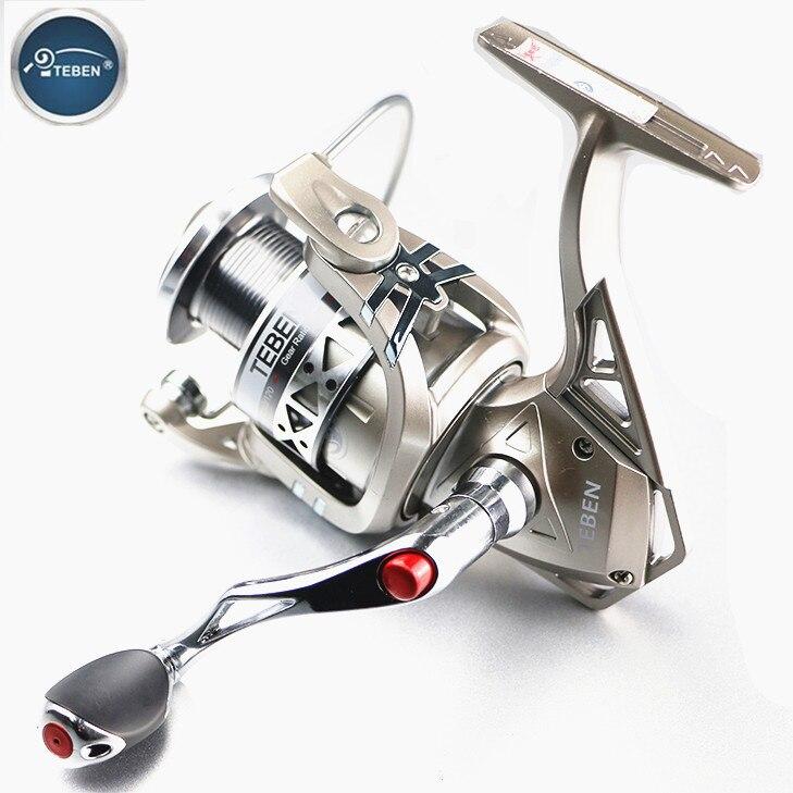 Teben GTS Fishing Spinning Reel 12BB Ratio 5.2:1 Saltwater Spinning Reel Max Drag 9KG Super Strength Carp Fishing Reels antik siyah kulp