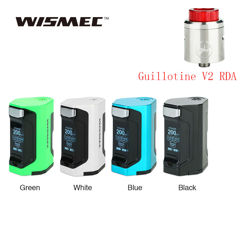 New Original WISMEC Luxotic DF TC Box MOD With 200W Huge Power & 1.3 Inch Display Squonk Mod VS WISMEC Luxotic BF/Drag Nano