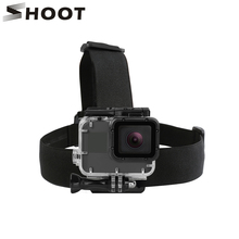 SHOOT Elastic Harness Head Strap Mount for GoPro Hero 6 5 4 3 Session Xiaomi Yi