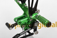 For Suzuki SV650 SV650S 1999 2009 CNC Motorcycle Rearsets Foot pegs Rearset Black&Green