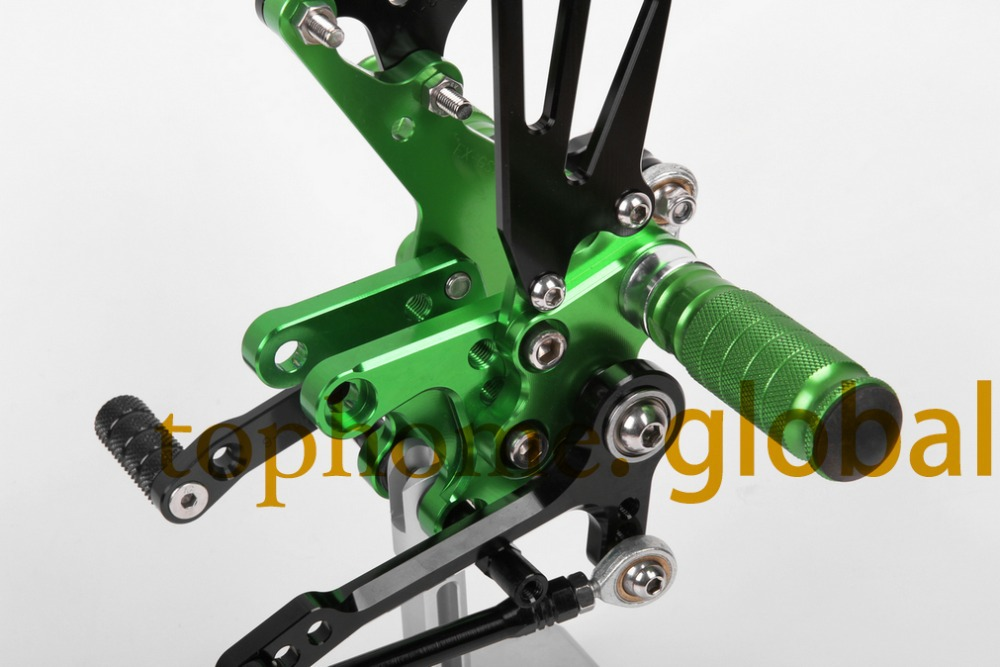 Новый мотоцикла с ЧПУ Rearsets подножки Rearset черный и зеленый цвета для Сузуки СВ650 SV650S
