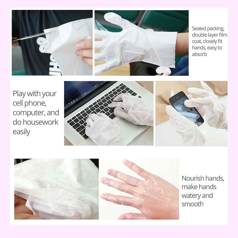 EFERO 6pair=12pcs Moisturizing Hand Mask Hand Care Spa Gloves Whitening Repair Hands Cream Wax For Hands Scrub Skin Care Gloves