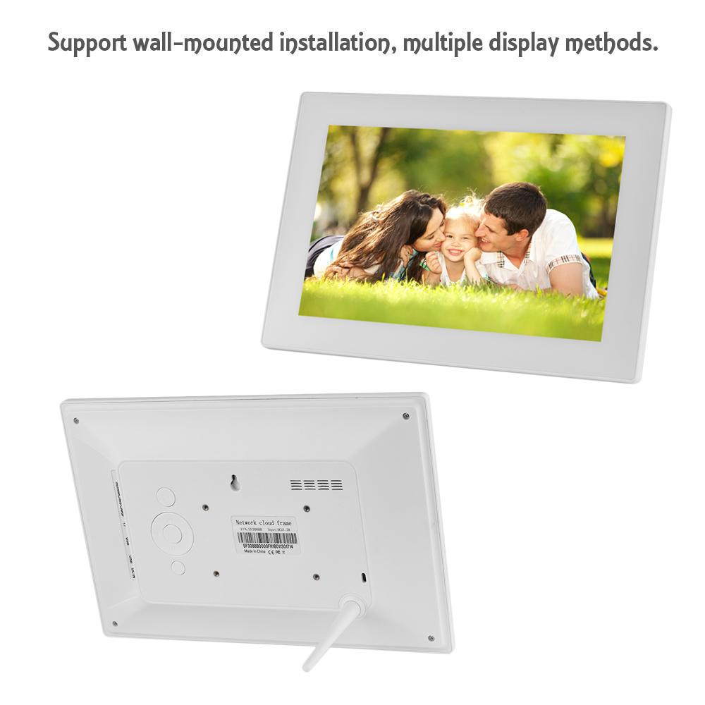 10.2 Inch Touch Screen WiFi Cloud Digital Photo Frame Tempered Glass ...