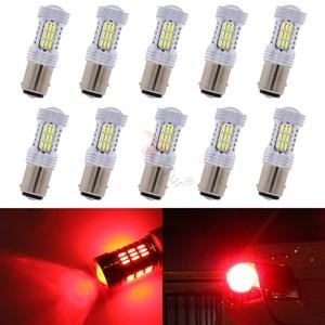 10pcs 1157 Socket 45 Led 4014 Chip 900 Lumens 6000K White Red Amber Colors Car Led Parking Light Rear Turn Signal Bulbs S25