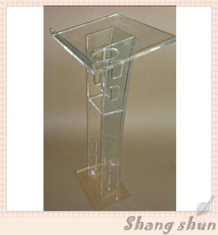 Clear Acrylic Plastic Podium Church Pedestal Pulpit Modern