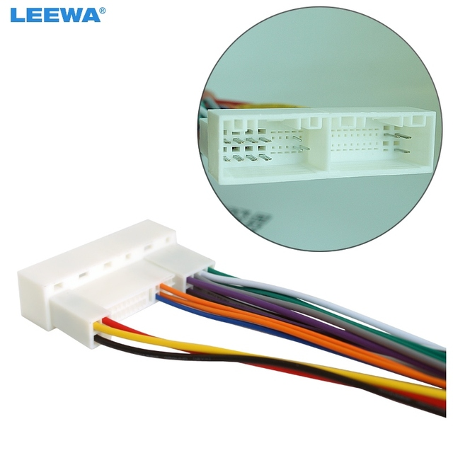 leewa car radio stereo wiring harness adapter plug for hyundai ix35 elantra santa fe sonata aftermarket cd dvd installation in cables adapters rh aliexpress com hyundai radio wiring diagram 2017 hyundai accent 2010 radio wiring