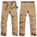 Kanye west moda casual hip hop conexão fábrica de roupas dos homens militar tático cargopants camuflar corredores de tamanho grande