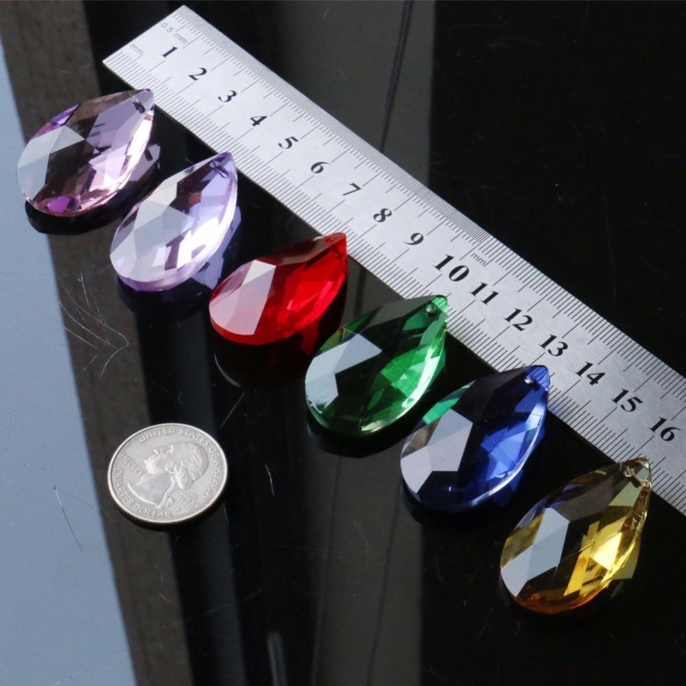 6 шт./лот, смешанные цвета, группа, слеза, капля, 38 мм, радужная стеклянная кристаллическая призма, сделай сам, кулон, украшения для люстры, защита от солнца, разделитель, граненый