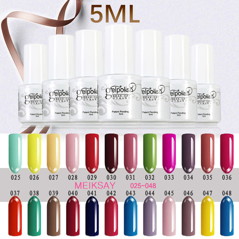 Gel Nails At Home 5ml UV Gel Nail Polish Gel Polish 120 Colors ...