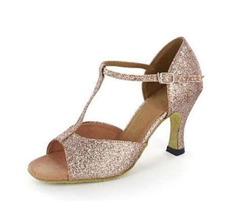 New Ladies Gold Glitter SALSA Dance Shoes Latin Dance Shoes Tango Shoes Ballroom Shoes for Women