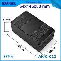 1 Piece High Quality Distribution Case Black Heatsink Aluminum Profiles For Power Supply 54 145 80mm