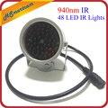 新しい不可視照明 940NM 赤外線 60 度 48 LED IR ライト Cctv セキュリティ 940nm IR カメラ (なし 12V1A 電源)