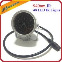 Nuovo illuminatore invisibile 940NM infrarossi 60 gradi 48 LED luci IR per telecamera CCTV sicurezza 940nm IR (non contiene alimentazione 12V1A)