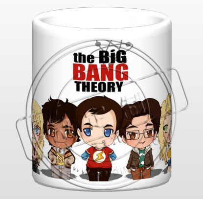 Q version of the big bang theory ceramic coffee milk tea breakfast cartoon cup movie cup