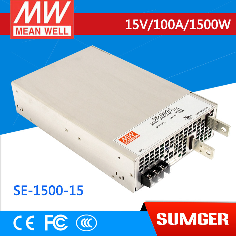 [MEAN WELL] original SE-1500-15 15V 100A meanwell SE-1500 15V 1500W Single Output Power Supply 15 15 1500