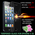 For iPhone 5 glass tempered protector film protective glass for iPhone 6/7 0.26mm 9H HD Screen protective glass for iPhone 5s