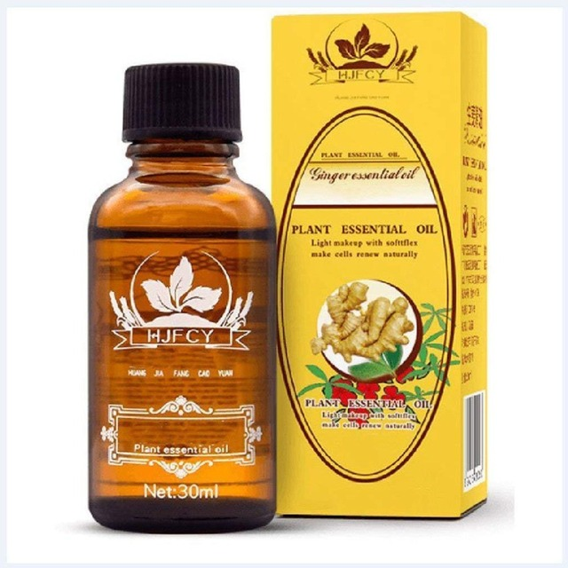 30ml Natural Plant Therapy Lymphatic Drainage Ginger Oil for Anti Aging Antiperspirant Essential Oil Body Massage Health Care