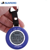 SUNROAD Mini Pocket Watch Waterproof Outdoor Fishing Barometer Altimeter Thermometer Climbing LED Digital Military Watch Clock
