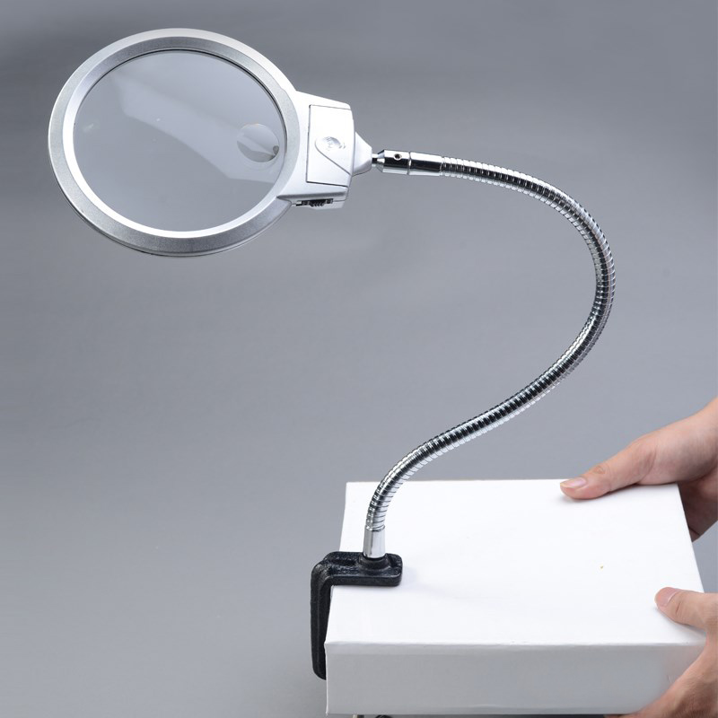 Lamp Magnifier Flexible Neck Magnifying Desk Table Clamp