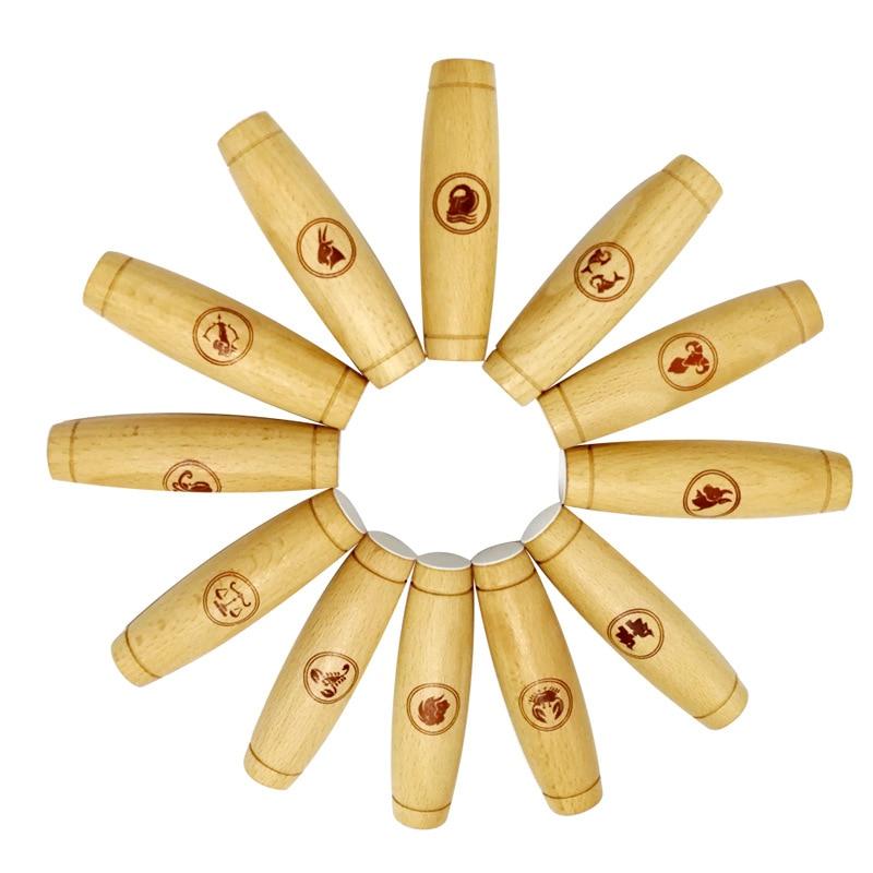 2019 bâtons de bois meilleure vente bureau Flip jeu en bois barre de décompression nouveaux jouets de décompression exotiques douze Constellations