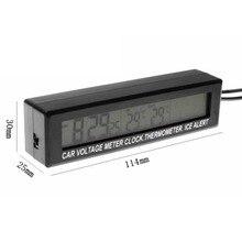 Promo offer 3 In 1 Multifunctional Car Digital Thermometer Voltmeter Clock LCD Screen Display Outdoor Indoor EC88 Car Clock