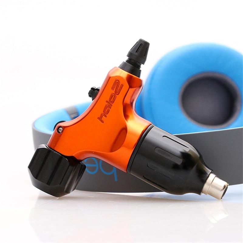 Orange HALO2 RCA Rotray Swiss Motor Tattoo Machine Gun + Auto Lock Tattoo Grip Tube Supply HCM02-OE# halo volume 2 escalation