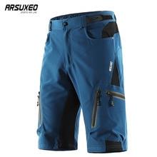 ARSUXEO для мужчин's Велоспорт спортивные уличные шорты MTB горный велосипед велосипедный спорт штаны для езды водостойкий свободный крой 1202
