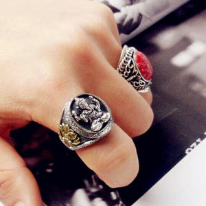 Image 5 - Thailand Buddha Elephant Ring Authentic 100% 925 Sterling Silver Rings for Men Vintage Punk Style GANESHA GANESH Men Jewelry