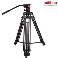 MTT601A Miliboo Alloy aluminum Fluid ball head camcorder Video tripod 15kg bear weight with Fluid Bowl Pan Head Tripod