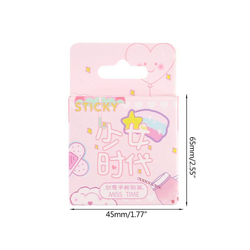 Купить с кэшбэком Girl Generation Series Cute DIY Stickers Kids Creative Decorative Diary Label Scrapbook Gift  Paper Stickers