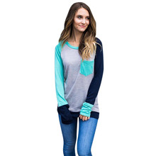2017 New Arrvial Women Autumn Casual O Neck Long Sleeve Tops T Shirt Y92830