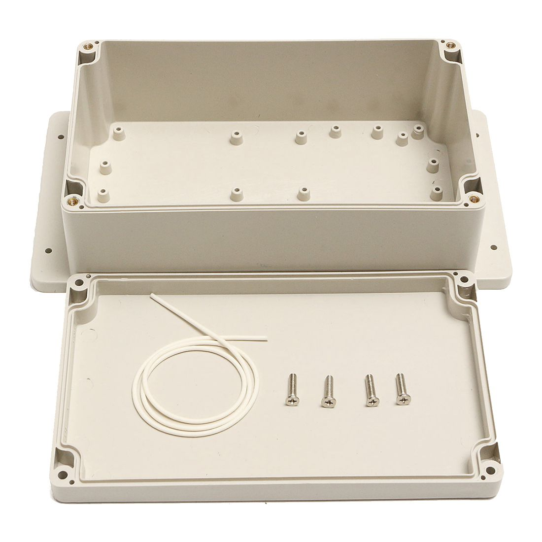 Waterproof Plastic ABS Electronic Project Box Enclosure Case 200x120x75MM White waterproof abs plastic electronic box white case 6 size