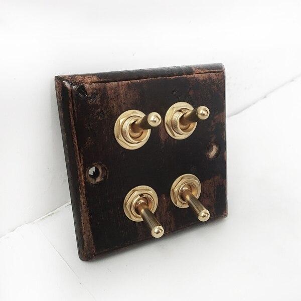 Wood Retro   Wall  Switch panel Four Control  Two  Way   6A  110V- 250V бененсон е итина л математика 1 класс рабочая тетрадь 1