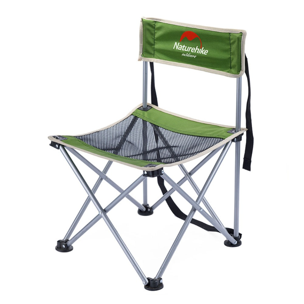 Outdoor Camping Chair Portable Folding Beach Park Picnic BBQ Backrest Fishing Hiking Chair Seat Stool portable light weight folding camping hiking folding foldable stool tripod chair seat for fishing festival picnic bbq beach