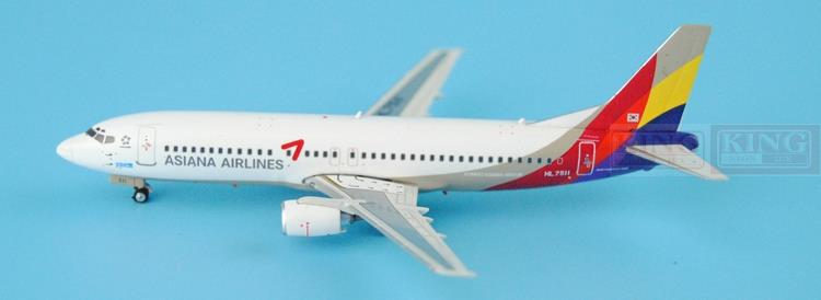 Asiana Airlines B737-400 HL7511 1:400 Phoenix 11157 commercial jetliners plane model hobby  phoenix 11093 ruian airlines ei fei 1 400 b737 800 w commercial jetliners plane model hobby