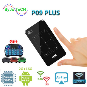 ByJoTeCH P09 PLUS DLP android мини-проектор 2G16G FULL HD 4K портативный карманный проектор Amlogic S905X WIFI 2.4G5G Bluetooth4.1