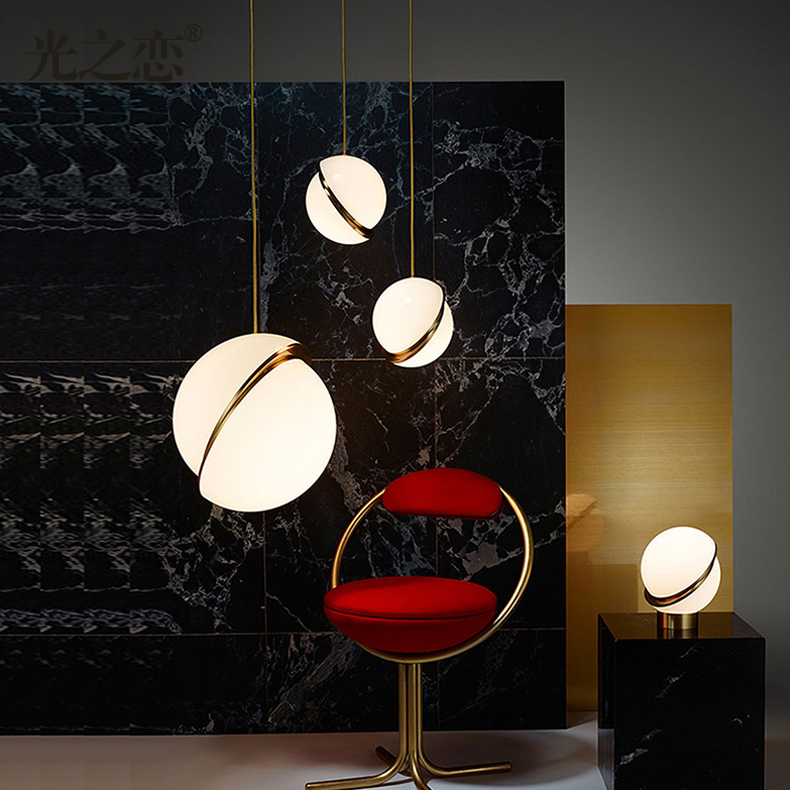 Bedside Hanging Drop Light Modern Kitchen Dinning Table Pendant Lamp Nordic Light Fixture Luminaire E27 Bulb Acrylic Lampshade