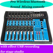 MICWL DJ mixer 8 Channel Bluetooth stage audio karaoke wireless mixing console mesa dj Preamplifier Audio effect USB
