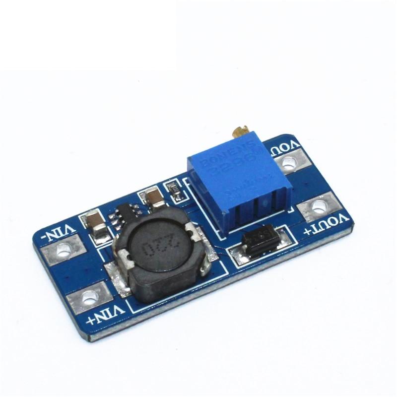 DC-DC Boost module 2a step-up module input Voltage 2/24V up 5/9/12/28V adjustable 2577 wholesale 1pcs dc dc step up converter boost 2a power supply module in 2v 24v to out 5v 28v adjustable regulator board dropship