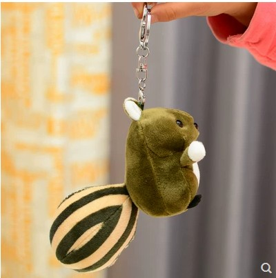 2019 new fashion Creative gift squirrel cute plush animal toy bag pendant car key chain pendant little figurines toy doll girl in Stuffed Plush Animals from Toys Hobbies