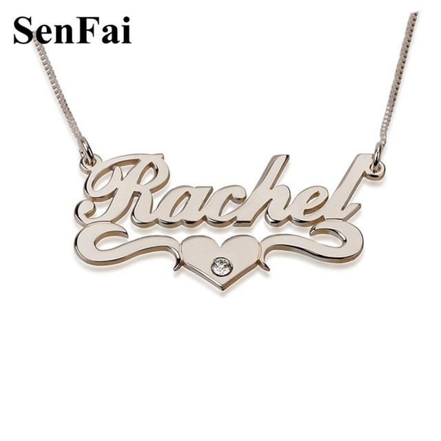 Senfai new fashion name necklace pensonalized custom design monogram senfai new fashion name necklace pensonalized custom design monogram initial pendants necklaces for women men girls aloadofball Gallery