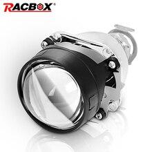 RACBOX 1 pcs 2.5inch Bi xenon lens WST Bixenon bi-xenon Projector lens H1 H4 H7 motorcycle car hid projector lens headlight