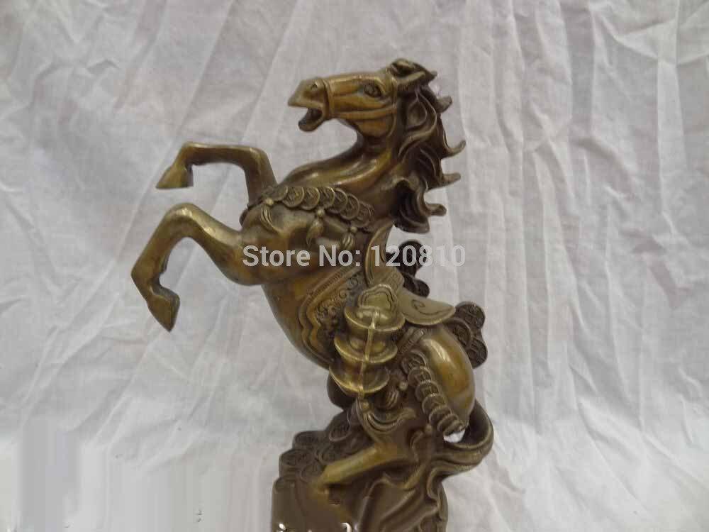 ᗐ10 bronce chino fengshui riqueza yuanbao caballo en moneda Pino ...