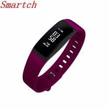 Smartch Smart Band измерять кровяное давление часы V07 Смарт-часы браслет сердечного ритма Мониторы Беспроводной Фитнес для Android IOS Телефон
