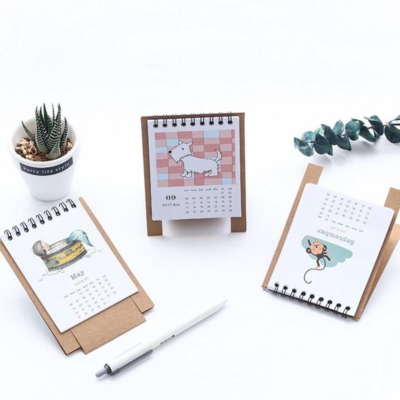 FleißIg Coloffice 1 StÜck Diy Kleine Frische Desktop Unterstützung 2018 Jahr Schreibwaren Dekorative Kalender Lernen Zeitplan Periodische Planer Tisch Angenehm Im Nachgeschmack Office & School Supplies