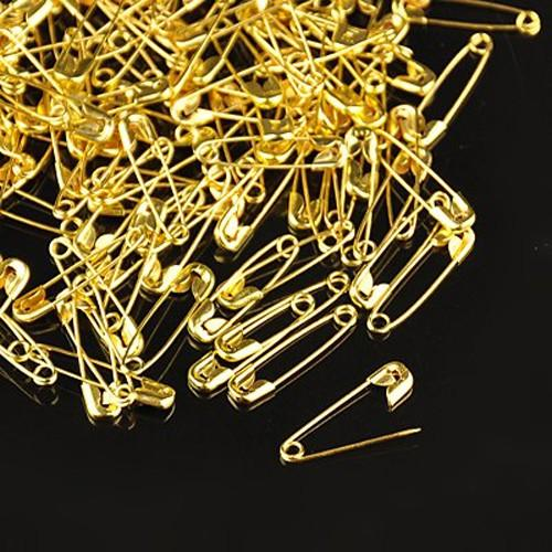 Golden Metal Color Iron Safety Pins, for Brooch Making, 20x5x1.5mm