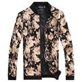 2015 brand Men's Slim jacquard jacket coat autumn fashion leisure wild cardigan stylish floral jacket men