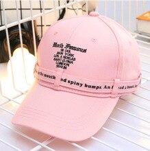 Фотография New Spring summer Letter embroidered Baseball cap students hat outdoor Sun hat golf Adjustable snapback Hat Bone Gorras dad hat