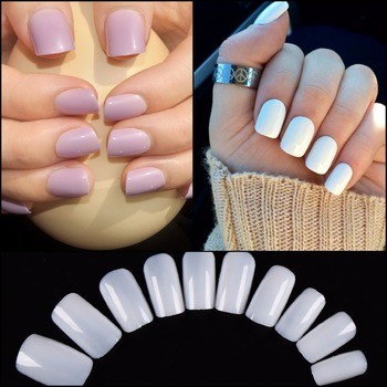 3 Color 100pcs Square False Nail Tips Full Cover Fake Nails Artificial Manicure Fake Nail Tips Маникюр
