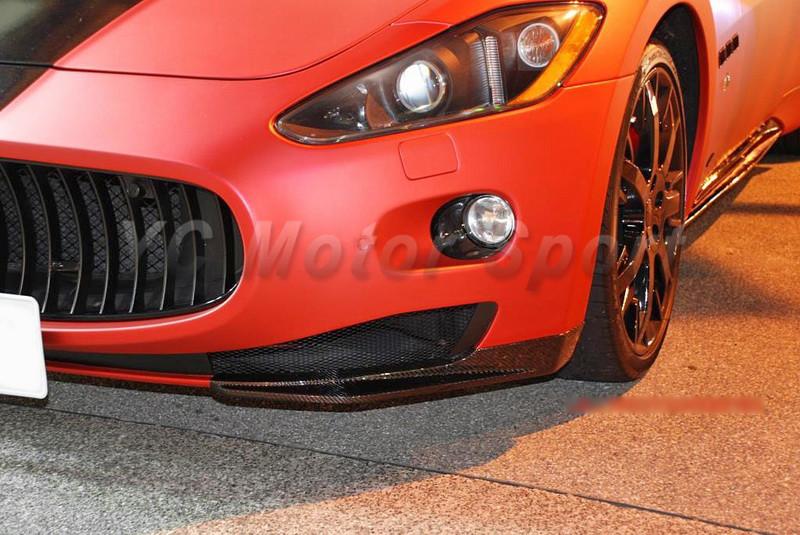 2009-2013 Maserati GranTurismo Sport GTS MC-Sport-Line Style Front Bumper Lip Spliter Dry Carbon (11)